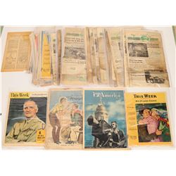 WWII-Era Armored News Tabloid Magazine (36 + issues)  (108685)