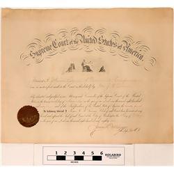 Supreme Court Attorney Certificate  (122865)
