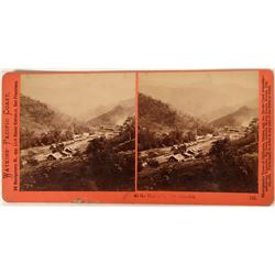 Very Nice 'Watkins Pacific Coast' Stereo-view of New Almaden  (123223)