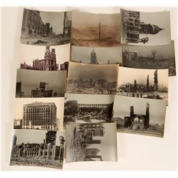 Collection of 9 Double Panel S. F. Earthquakes Postcards and 10 Photos  (123451)