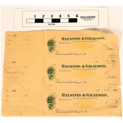 Ralston & Grayson Checks  (124452)