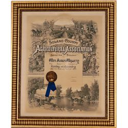 Solano County Fair Best Exhibit Diploma for Printing on Tapestry  (125097)
