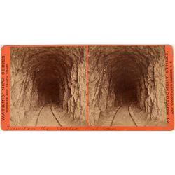 Visalia Railroad Tunnel Railroad Stereoview  (123228)