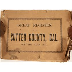 Great Register of Voters Sutter County  (124328)
