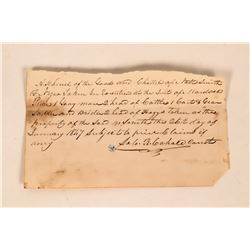 Slave Document signed by Constable Cahale  (119704)