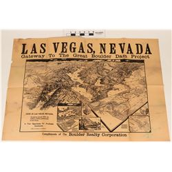 Original Broadside for the Opening of Hoover Dam  (123221)