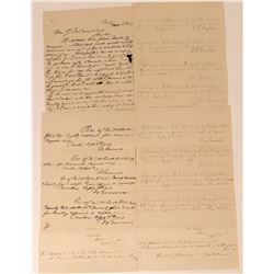 Five 1879 Written Documents - Inlcuding an Interpreting Letter  (123176)