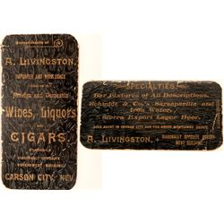 Livingston Souvenir Notebook - One Time Proprietor of Nevada's Oldest Bar  (123157)