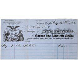 1862 Carson City, Nevada Territory Pictorial Billhead  (113692)