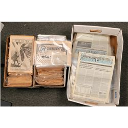 Gold Hill & Virginia City Newspapers - 3 Boxes  (108401)