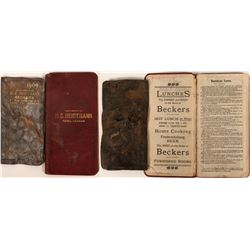 Two H. C. Heidtmann Leather Souvenirs (see Nevada Bottle Book for more history)  (123156)