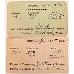 Original Ore Shipping Receipts  (123148)