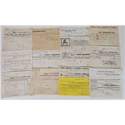 Comstock Billhead Collection 1 (Virginia City, Gold Hill, Silver City)  (113756)