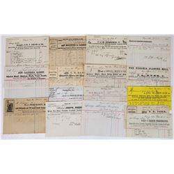Comstock Billhead Collection 2 (Virginia City, Gold Hill, Silver City)  (113757)