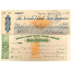 Two Gould and Curry Checks including Iconic Green  (123123)