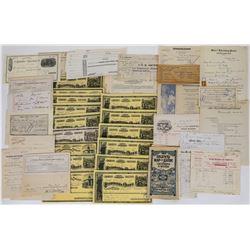 Nevada Ephemera (Billheads, Mining, State Warrants, Etc.)  (113707)