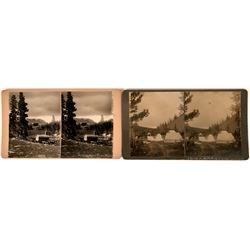 Two Historical Mining Wyoming Stereo-views  (123219)