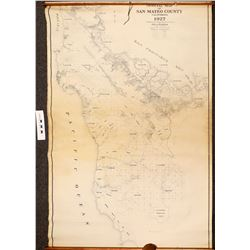 Map of San Mateo County, California dated 1927  (108702)