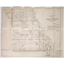Map of MIssouri by Meriweather Lewis Clark Mentions Mines  (118627)