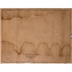 Parkinson Map c1874 - Gold Hill Mining District  (125041)