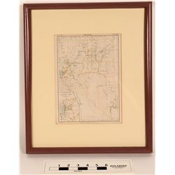 Rare 1880s Nevada Map  (125231)