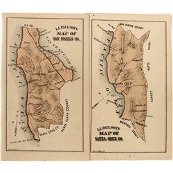 L. L. Paulson's Maps of San Mateo and Santa Cruz Counties  (124308)