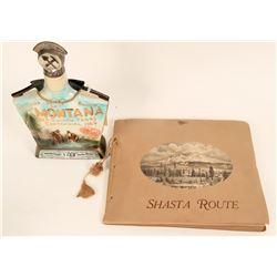 My Shasta Pic Album and Montana JIm Beam Bottle  (122127)