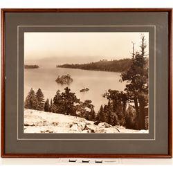 Lake Tahoe Glenbrook Inn and Emerald Bay, 3 BW Photos   (125119)