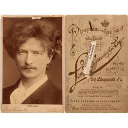 Photo Portrait of Paderewski  (124108)