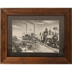 Train Leaving a Ferry - Framed Photo Repro  (125186)