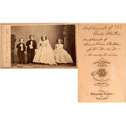 Wedding Portrait Photo of Mr. & Mrs. Tom Thumb  (124109)