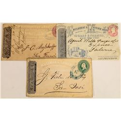 Wells Fargo Franked Full Face Advertising Covers (3)  (125048)