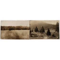 Two Real Photo Cards from Bass Lake  (125900)