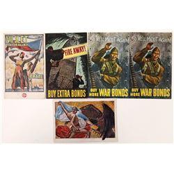 Five WWII Era Postcards  (125836)