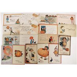 Halloween - Sketch Art Postcards (16)  (125027)