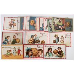 Halloween - Two Kids Theme Postcard Collection (19)  (125871)