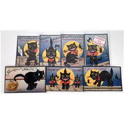 Halloween Postcards - BIG Black Cat (7)  (125851)
