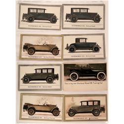 Oldsmobile Auto Advertising Postcards (8)  (113156)
