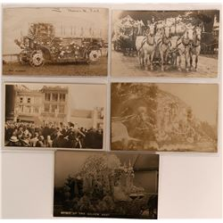 Parade Wagon Real Photo Postcards  (113146)