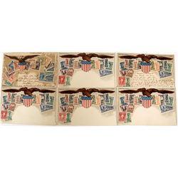 U. S. Stamp Postcards (6)  (125882)