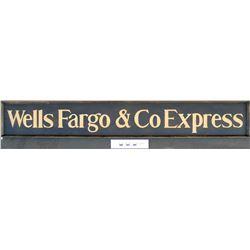 Wells Fargo & Co Express, Wood Sign, 6 Feet Long!  (125251)