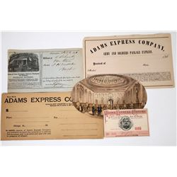 Adams Express Ephemera Group (5)  (118660)