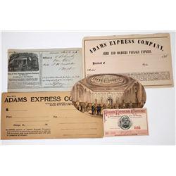 Adams Express Ephemera Group (5)  (118660)