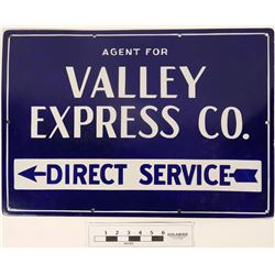 Valley Express Co Enamel Sign  (125094)
