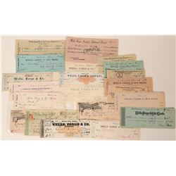 Wells Fargo Check Collection - Mostly Nevada and California (21)  (123452)