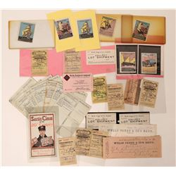 Wells Fargo Collection of Receipts and Ephemera (29)  (123459)
