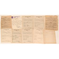 Wells Fargo Letter  and Letter Size Document Collection (11)  (123454)
