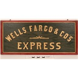 Wells, Fargo & Co. Express Sign, Wood  (124508)