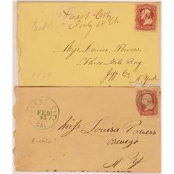 Forest City postal Covers (2)  (108031)