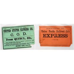 Two Express Company Labels  (118659)